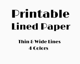 Lined School Paper Binder Paper