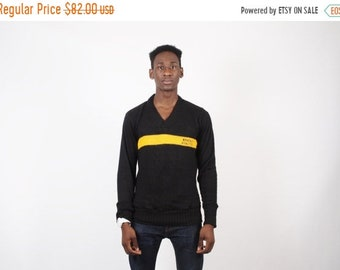 On SALE 60% Off - 50s Athletics Sweater - Vintage High Sweater - 1950s V-neck Sweater - 2150