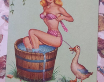 Vintage Pin Up Playing Cards Country Cutie