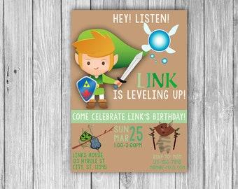 Legend of Zelda Invitation (Digital)
