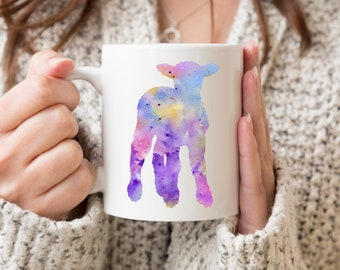 Lamb Mug - Lamb Gift - Little Lamb Watercolor Farm Animal Art Mug - Lamb Coffee Mug - Unique Animal Gifts