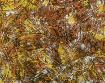 COPPER SILVER & GOLD - Van Gogh Stained Glass Mosaic Tile B21