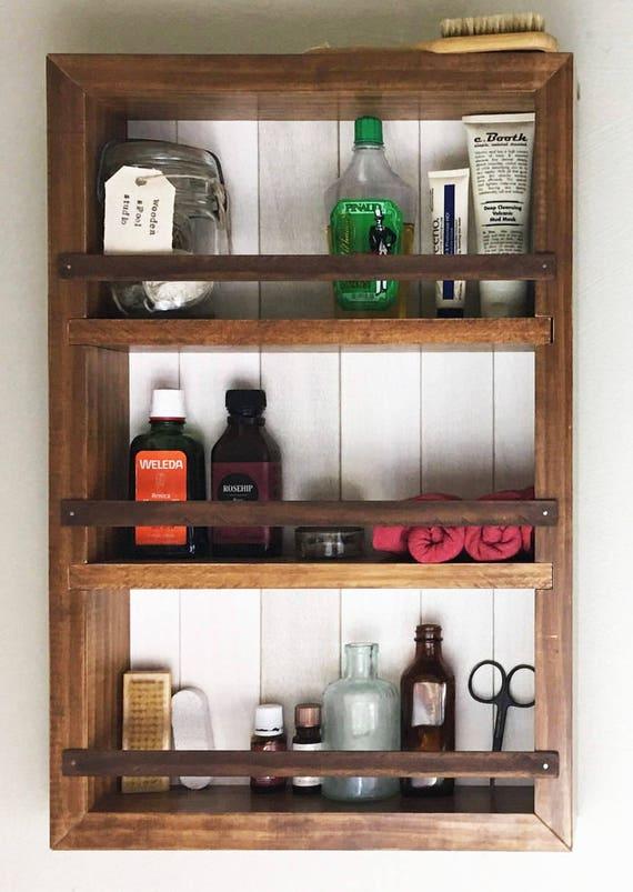 Rustic Bathroom Shelves Farmhouse Shelf Medicine Cabinet