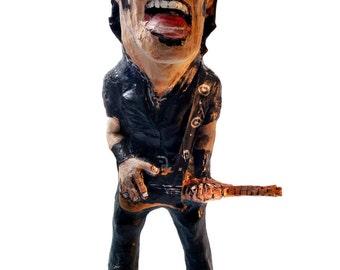 Bruce Springsteen paper mache figure