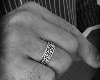 High quality STERLING 925 Silver spinning ring