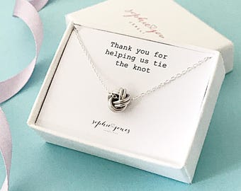 Tie the knot Necklace - Bridesmaid necklace - bridesmaid gift - tie the knot