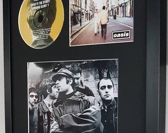 Oasis Luxury Framed Limited Edition 'Whats The Story Morning Glory' Original CD montage-Certificate Supplied Totally Unique