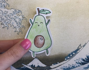 Matte Avocado Sticker