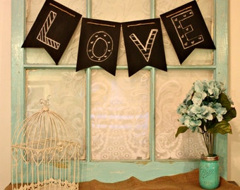Wooden chalkboard 10 pc. pennant banner, Birthday decor, Wedding decor,and more!