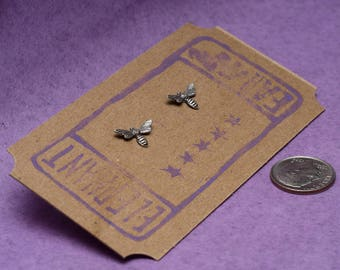 Itty Bitty Bee or Wasp Post Earrings