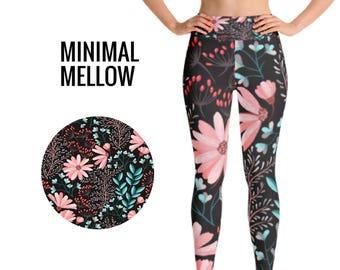 Flower Leggings, Floral Leggings, Fashion Leggings, Fitness Leggings, Yoga Leggings, Winter Leggings, Printed Leggings, Workout Leggings