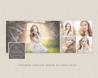 Facebook Timeline Cover - Clean Photography Photoshop Template - Instant Download