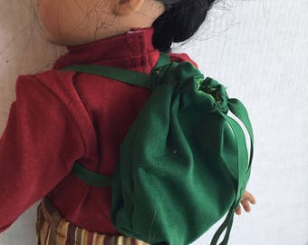 "Backpack for 18"" dolls such as American girl"