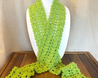 Lacy Crochet Scarf
