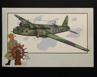 "Tintin. Chromo Tintin. See and know. Aviation. War 1939-1945. Series 3. NO. 4. Vickers-Armstrong ""Wellington. Great Britain. 1936."
