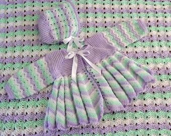 Dainty Ripple Layette Crochet Pattern PDF