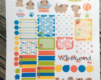 Dog Planner Stickers, Weekly Planner Stickers Set, for use with Erin Condren Life Planner, Happy Planner