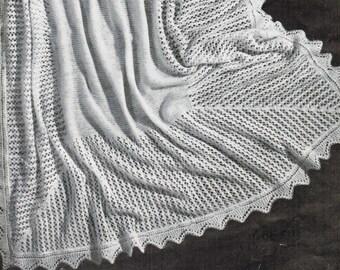 Delicate Lace Shawl Pattern PDF / Knitted women's shawl / Antique shawl pattern / Simple wedding shawl pattern