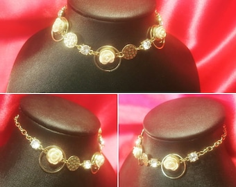 rose glam gold choker