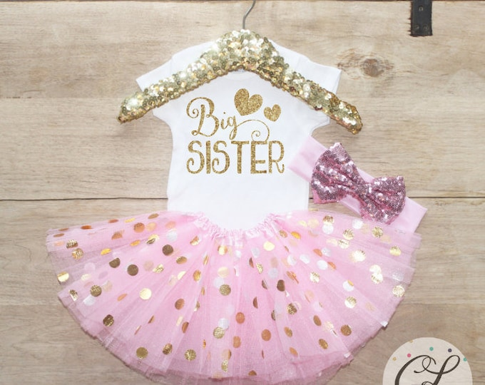 Big Sister Tutu Outfit Set / T-Shirt 049