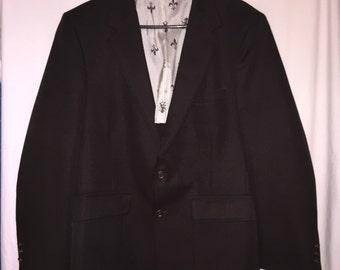 Vintage 1970's JC Penneys Men's Dark Brown Suit Jacket Blazer sportscoat