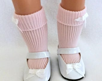 Pink Socks for 15-18 Inch Dolls - Pink Doll Socks - Socks for Dolls - Doll Party Favor - Gifts for Girls - Girls Toys - Doll Clothing