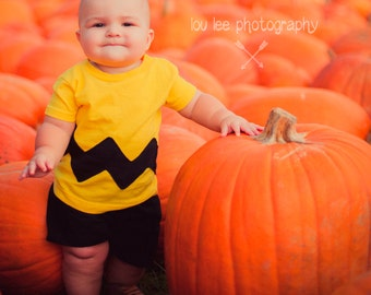 Charlie Brown Shirt Chuck Baby Tshirt Yellow Black Chuck Toddler Charlie Brown Kids Costume Charlie Brown Birthday Shirt Halloween Costume