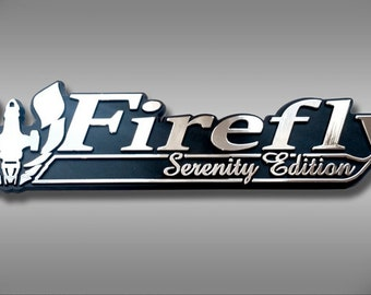 Firefly Serenity Edition Car Emblem - Chrome Plastic Not a Decal / Sticker