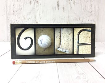 Golf Wood Sign, Golfer Gift, Golf Gifts for Men, Fathers Day Gift, Dad Birthday Gifts, Husband Gift, Gifts for Him, Gifts for Dad Golf Decor