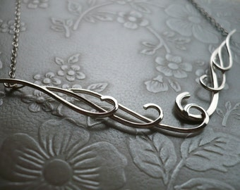 Waves Necklace one in Sterling Silver by Kirsty O'Donnell