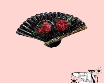 The Hand Fan brooch
