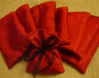 14 POCKETS RED TAFFETA