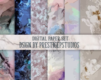 Floral Lace Paper, Patterns and Textures, sequin texture paper, pastel digital paper, digtal paper, iced glimmer paper, iridescent paper