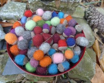 Felt acorns, felt acorns, autumn decoration, natural decoration, Waldof felt, Waldorf coloured acorns, Filzobst, autumn, UnikateNR