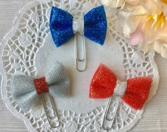4th of july tulle bows