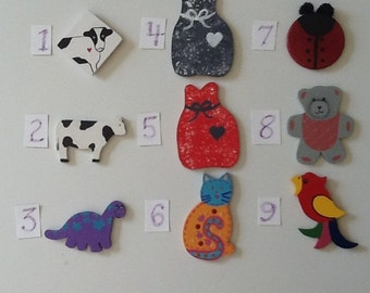 Cow and Animal Mini-Wooden Cut-Outs