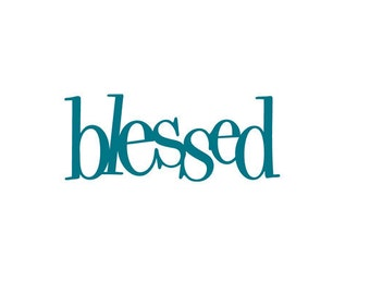 Blessed - Vinyl Wall Art