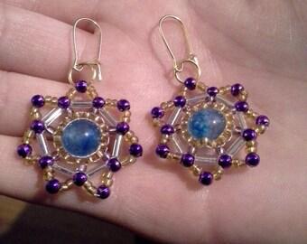 Elegant Beaded Starburst Earrings