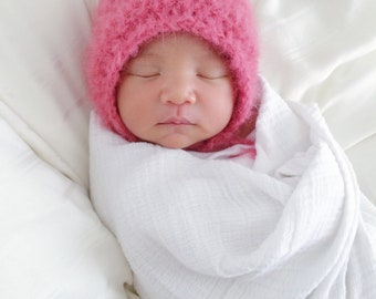 Crochet Newborn Bonnet