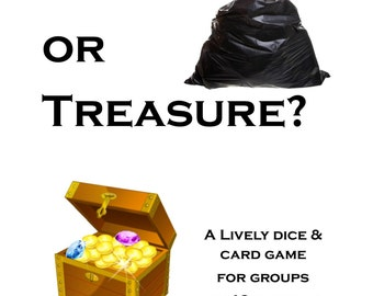 Trash or Treasure? Printable Dice & Card Game for Large Group - INSTANT DOWNLOAD - Game night idea for couples or Girls Night Out