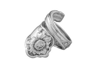 Spoon Ring, Corona, Silver Spoon Jewelry, Handmade ring, Vintage ring, Spoon Jewelry, Silver ring, Sterling spoon ring, Silver Spoon Ring