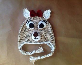 Clarice the Reindeer Hat