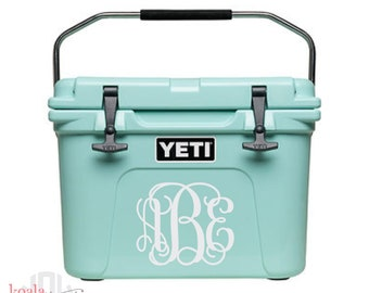 Yeti Cooler Decal | Monogrammed Cooler | Personalized Cooler | Boater Gift | Yeti Tundra Monogram | Yeti Roadie Decal | Water Cooler Decal