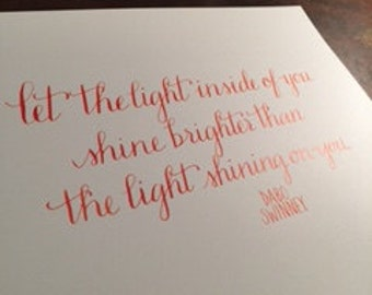 Dabo Swinney National Championship Calligraphy Quote