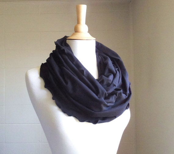 Black Infinity Scarf ruffle scarf Circle scarf Eternity scarf Cotton scarf chunky cowl winter accessories gift for her christmas gift idea