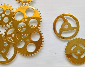 Steampunk Gold / Silver / Copper Gears / Chronology Cogs / Gears confetti / table confetti for weddings parties (pack of 50)