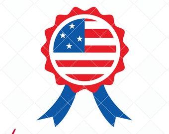 4th of July svg cut file, USA ribbon dxf, patriot svg, jpg, png, ai cutting files, clip art, printable, Silhouette Cameo, Cricut
