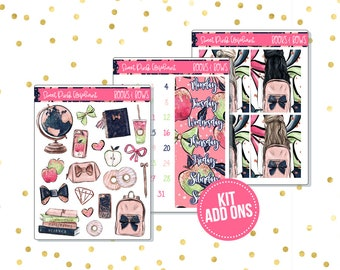 Books and Bows // Kit ADD ONS-Stickers for the EC Happy Planner Life planner