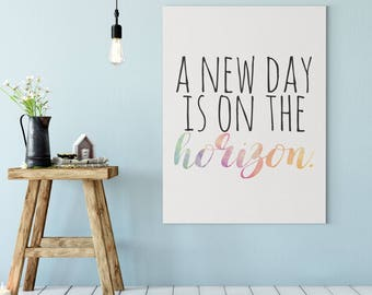 Oprah Winfrey Quote - A New Day is On the Horizon - Quote for Girls - Feminism - 2018 Golden Globes Speech Print - Quote For Girls Wall Art