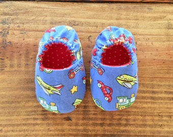 Things that GO Baby Slippers, Crib Shoes, Baby Slippers, Baby Gift, Soft Sole Shoes, Toddler Slippers, Cloth Baby Shoes, Baby Shower Gift